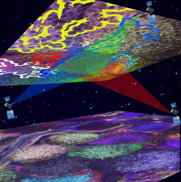 "researchers have developed a method to map the circuitry of the brain with a ""Neuronal Positioning System"" (NPS) similar to how a Global Positioning System (GPS) triangulates our location on the planet. Image credit: Dr. Shlomo Tsuriel and Dr. Alex Binshtok, Hebrew University of Jerusalem."